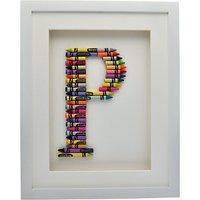 The Letteroom Crayon P Framed 3D Artwork, 34 x 29cm