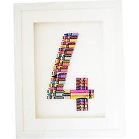The Letteroom Crayon 4 Framed 3D Artwork, 34 x 29cm