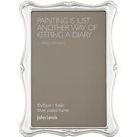 John Lewis Flora Photo Frame, Silver Plated, 4 x 6 (10 x 15cm)