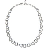Andea Sterling Silver Assorted Cut Out Necklace