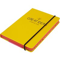 Happy Jackson A6 Notebook, Yellow