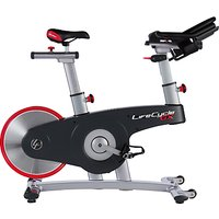 Life Fitness Life Cycle GX Exercise Bike, Silver/Grey/Red