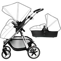 Silver Cross Pioneer Pushchair Seat, Chassis and Carrycot, Chrome