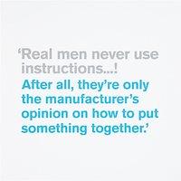 Icon Real Men Birthday Card
