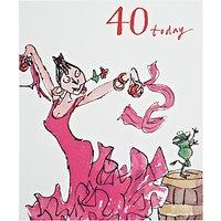 Woodmansterne Dancing Queen 40th Birthday Card