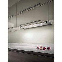 Elica Hidden 120 Built-In Cooker Hood, Stainless Steel/ White Glass