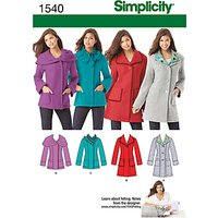 Simplicity Jackets Sewing Pattern, 1540