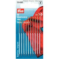 Prym Assorted Long Darning Needles, Sizes 1-5, Pack of 10