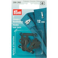 Prym Hooks and Bars for Trousers and Skirts, 12mm, Pack of 2