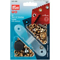 Prym Eyelets with Washers, 4mm, Pack of 50