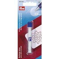 Prym Cartridge Pencil Refil, 9mm, Pack of 6, White