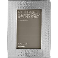 John Lewis Hammered Photo Frame, Metal, 4 x 6 (10 x 15cm)