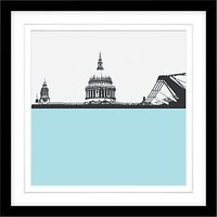 Jacky Al-Samarraie St Pauls Cathedral and Millennium Bridge Framed Print, 54 x 54cm