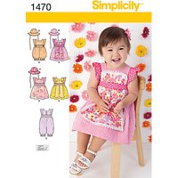 Simplicity Childrens Dresses & Rompers Sewing Pattern, 1470