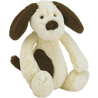 Jellycat Bashful Dog Soft Toy, Cream/Brown, Small