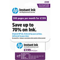 HP Instant Ink Enrolment Card, 300 Pages