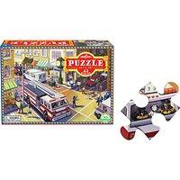 Eeboo Fire Engine Jigsaw Puzzle