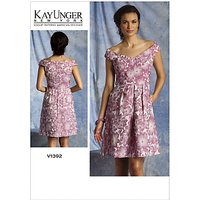 Vogue Kay Unger Womens Dresses Sewing Pattern, 1392
