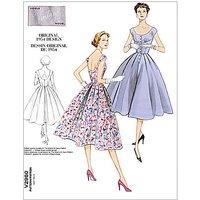 Vogue Womens Vintage Model Dresses Sewing Pattern, 2960