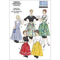 Vogue Vintage Womens Apron Sewing Pattern, 8643