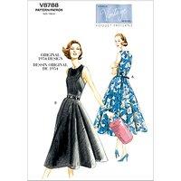 Vogue Vintage Womens Dresses Sewing Pattern, 8788