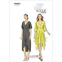 Vogue Womens Dresses Sewing Pattern, 8894