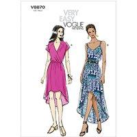 Vogue Womens Dresses Sewing Pattern, 8870