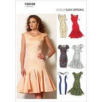 Vogue Womens Dresses Sewing Pattern, 8948