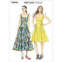 Vogue Womens Dresses Sewing Pattern, 8996