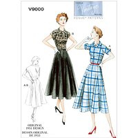 Vogue Vintage Womens Dress Sewing Pattern, 9000