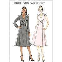 Vogue Womens Dresses Sewing Pattern, 8992