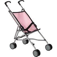 John Lewis Baby Doll Pushchair, Grey/Pink