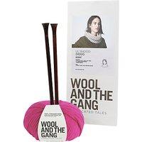 Wool and the Gang Lil Snood Dogg Knitting Kit, Hot Punk Pink
