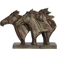 Libra Horse Trio Head Sculpture