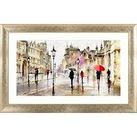 Richard Macneil - Stroll in the Rain Framed Print, 113 x 73cm