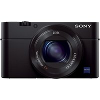 Sony Cyber-shot DSC-RX100 III Camera, HD 1080p, 20.1MP, 2.9x Optical Zoom, Wi-Fi, NFC, OLED EVF, 3 Screen