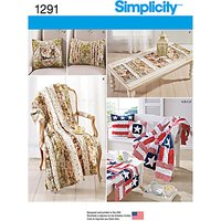 Simplicity Home Accessories Sewing Patterns, 1291