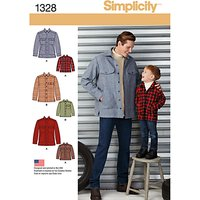 Simplicity Mens & Boys Jackets Sewing Patterns, 1328