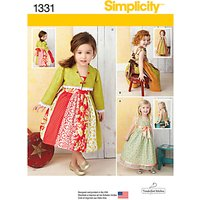 Simplicity Girls Dresses Sewing Pattern, 1331