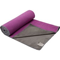 Gaiam Dual Grip Yoga Towel, Purple/Grey