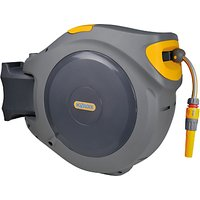 Hozelock Retracting Wall-Mounted Hose Reel, 40m