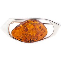 Be-Jewelled Amber Free Form Brooch, Cognac