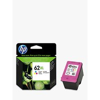 HP 62XL Ink Cartridge, Tri-Colour, C2P07AE