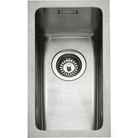 John Lewis Undermount Half Bowl Sink, Stainless Steel