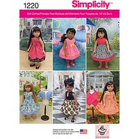 Simplicity Doll Dresses Sewing Pattern, 1220