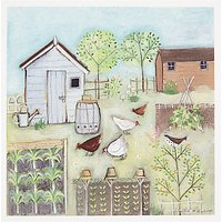 Woodmansterne Chickens In Allotment Greeting Card