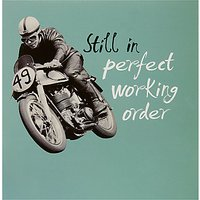Woodmansterne Motorcycle Driving Birthday Card