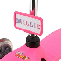 Micro Scooter Nameplate, Pink