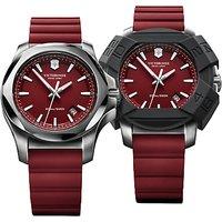 Victorinox 241719.1 Mens I.N.O.X Rubber Strap Watch, Red