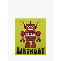 Candy Floss Robot Birthday Card